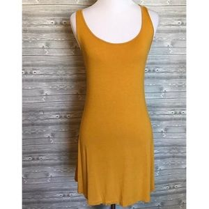 Fit & Sexy Mustard Colored Low Back Dress